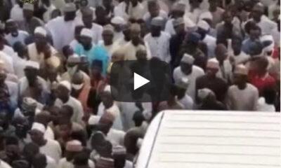 Overcrowded Burial: Thousands Bid Emir Of Zazzau Farewell (Photos, Videos)
