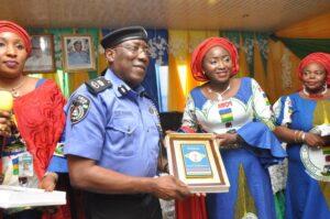 Asta Ibrahim Idris and Johnson Kokumo, former Edo police commissioner.