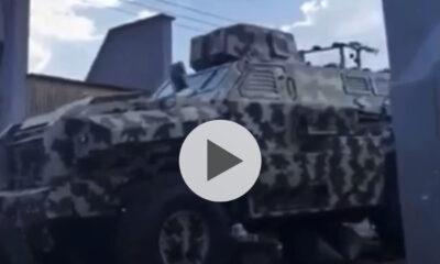 Military Trucks Seen Moving Into Akure