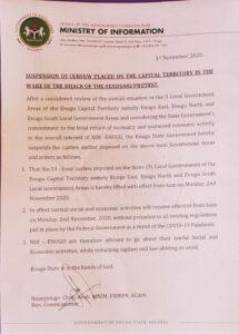 EndSARS Protests: Enugu Government Suspends Curfew