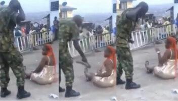 """Soldiers Arrested For Flogging Lady, Shaving Men's Hair Over """"Indecent Dressing"""""""