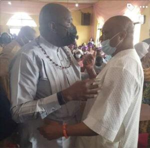 James Ibori And Great Ogboru Meet, Hug Themselves